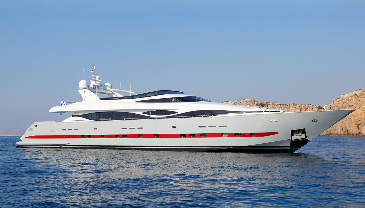 GLAROS - Mega Yacht for Charter in Greece