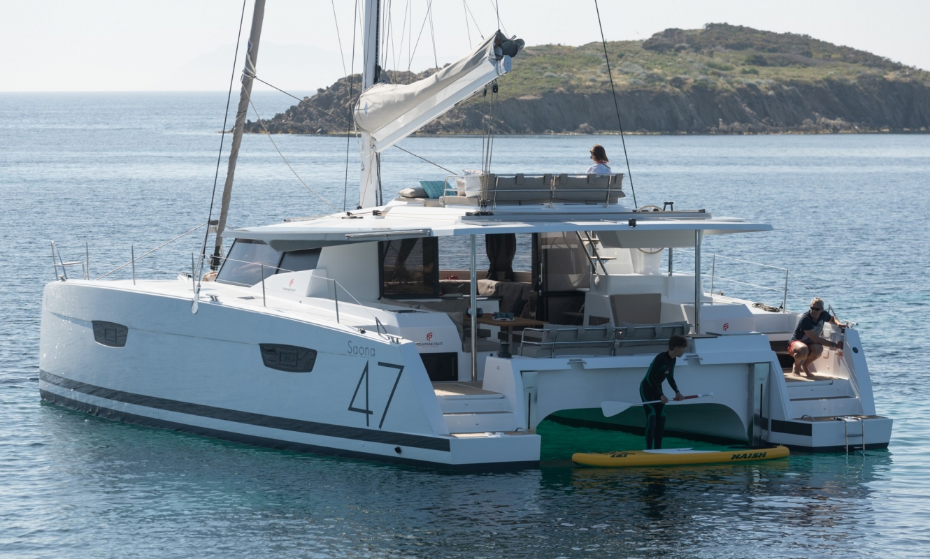 Saona 47 Prestige - Catamaran for Charter in Greece