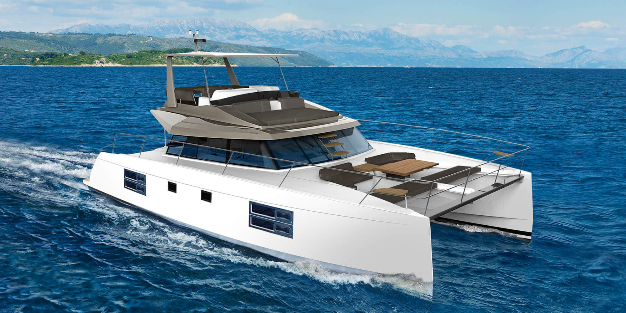 Nautitech 47 Power Prestige - Catamaran for Charter in Greece
