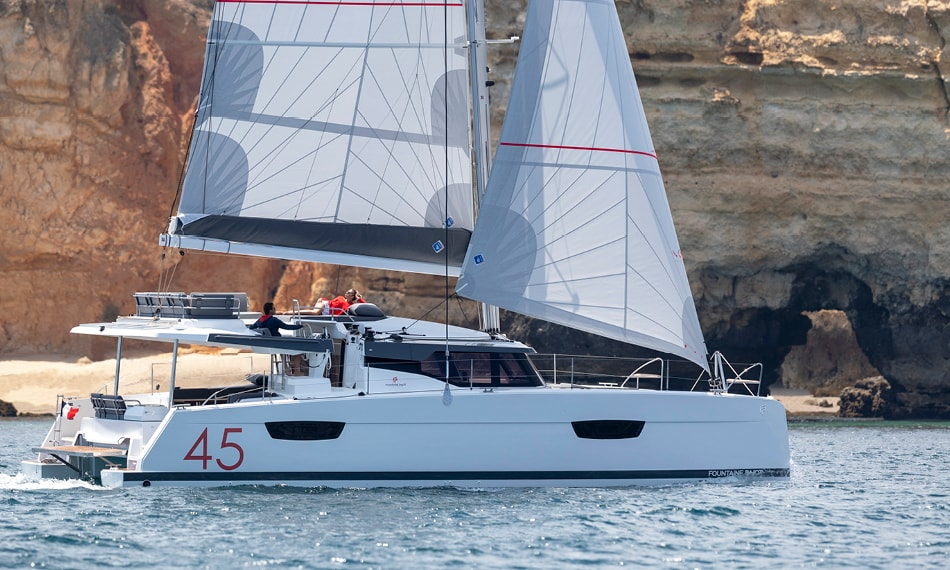 Fountaine New 45 Prestige - Catamaran for Charter in Greece